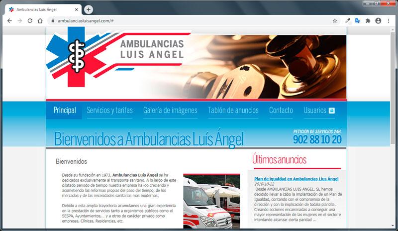 www.ambulanciasluisangel.com